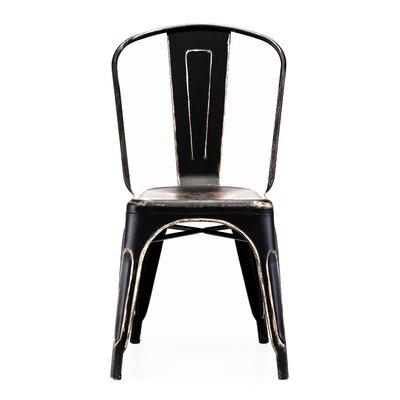 Halie Side Chair Finish: Black / Gold