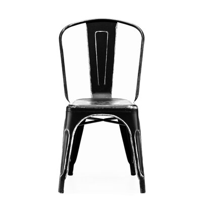Halie Side Chair Finish: Black / Silver