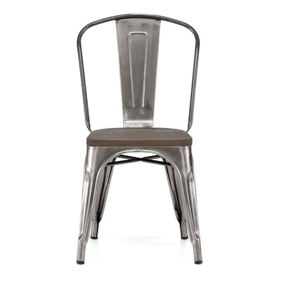 Halie Side Chair Upholstery: Light Elm, Base Finish: Rustic Matte