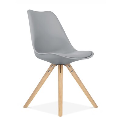 Side Chair Finish: Natural, Upholstery: Grey