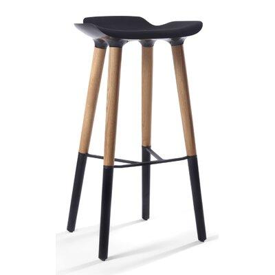 30.5 Bar Stool Upholstery: Black