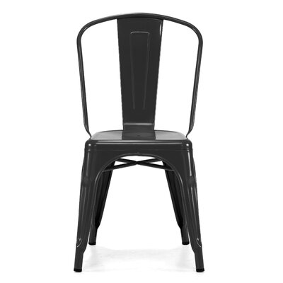 Halie Side Chair Finish: Glossy Black