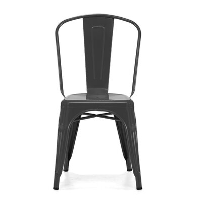 Halie Side Chair Finish: Matte Black