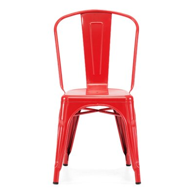 Halie Side Chair Finish: Glossy Red