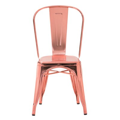 Halie Side Chair Finish: Chrome Rose Gold