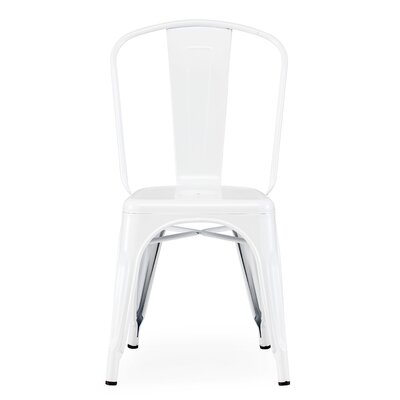 Halie Side Chair Finish: Glossy White