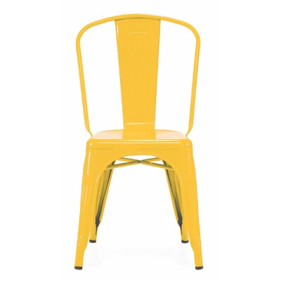 Halie Side Chair Finish: Glossy Yellow
