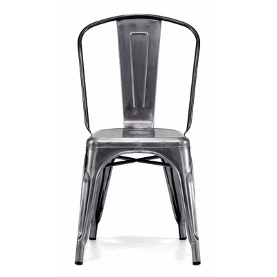 Halie Side Chair Finish: Dark Gunmetal