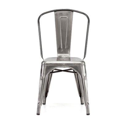 Halie Side Chair Finish: Clear Gunmetal