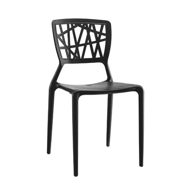 Vocci Side Chair Finish: Black