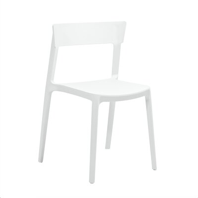 Rho Side Chair Finish: White