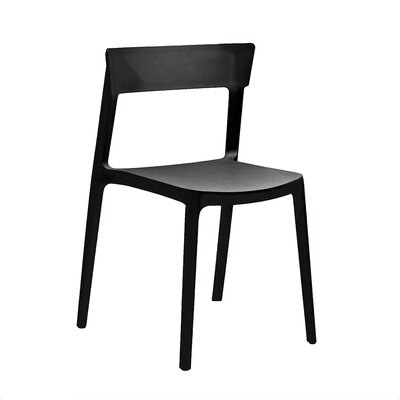 Rho Side Chair Finish: Black