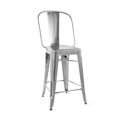 Halie 26 Bar Stool Finish: Gunmetal