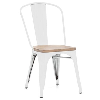 Halie Matte Mint Light Elm Wood Side Chair Finish: Glossy White
