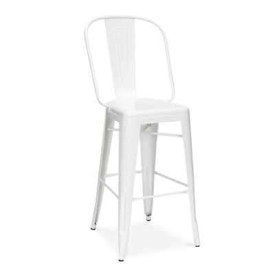 Halie 26 Bar Stool Finish: White