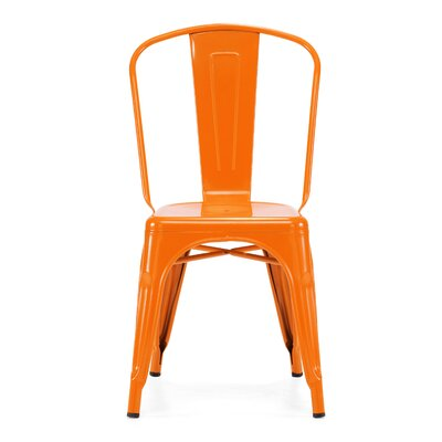 Halie Steel Side Chair Finish: Glossy Orange