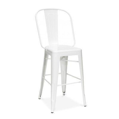 Halie 24 Bar Stool Finish: White