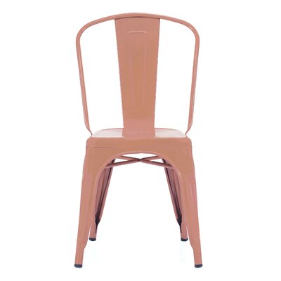 Halie Steel Side Chair (Set of 4) Finish: Matte Copper