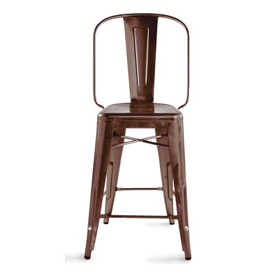Halie 24 Bar Stool Finish: Rustic Matte