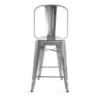 Halie 24 Bar Stool Finish: Gunmetal