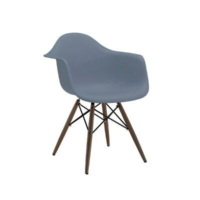 Trige Solid Wood Dining Chair Seat Finish: Slate, Leg Finish: Walnut