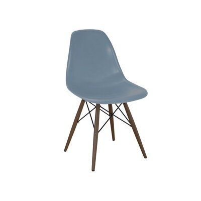 Trige Solid Wood Dining Chair Seat Color: Slate, Finish: Walnut