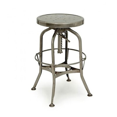 Adjustable Height Swivel Bar Stool Finish: Gunmetal