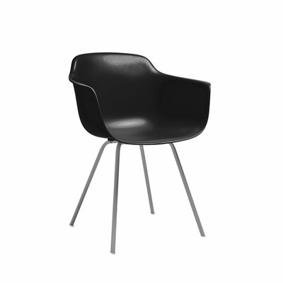 Costales Mid Century Dining Chair Color: Black