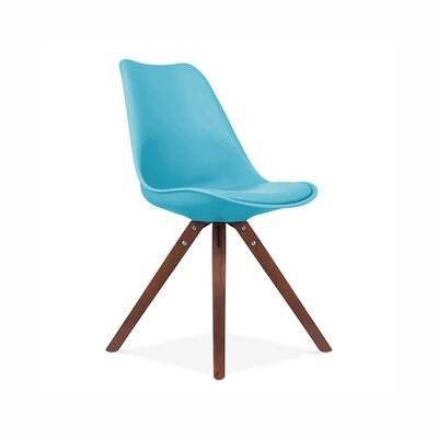Side Chair Finish: Walnut, Upholstery: Blue