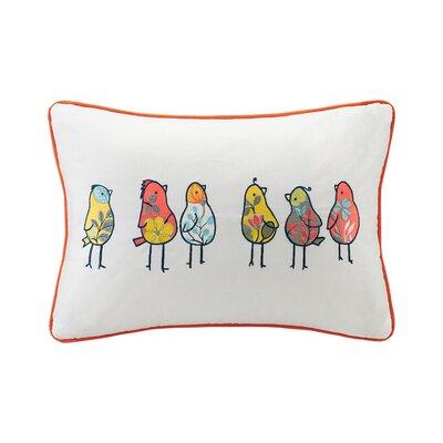 Jana Birds Embroidered Cotton Lumbar Pillow