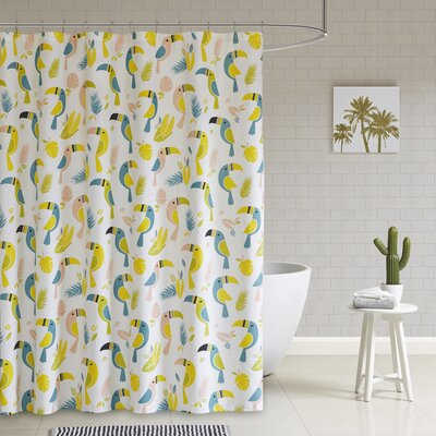 Rosalida Printed 100% Cotton Shower Curtain