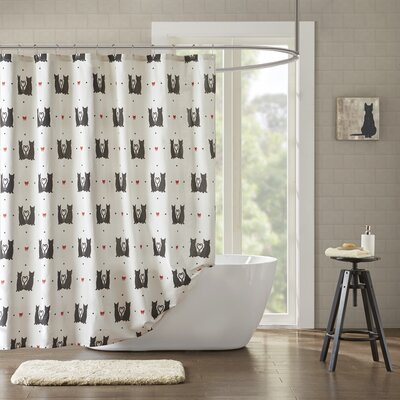 Gigi Printed 100% Cotton Shower Curtain