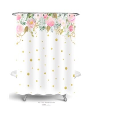 Simply Sudsy Floral Confetti Shower Curtain