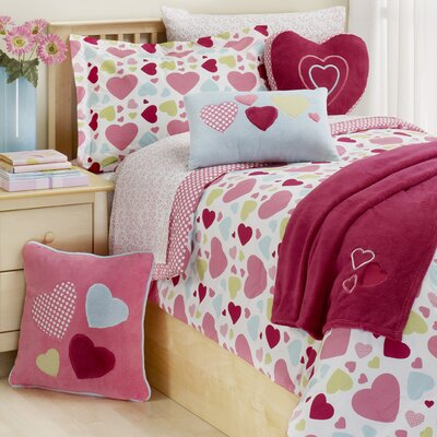 Hearts 2 Piece Twin Comforter Set