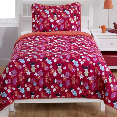 Japanese Dolls 2 Piece Twin Comforter Set