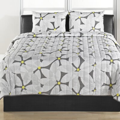 Modern Daisy 3 Piece Quilt Set Size: Full/Queen