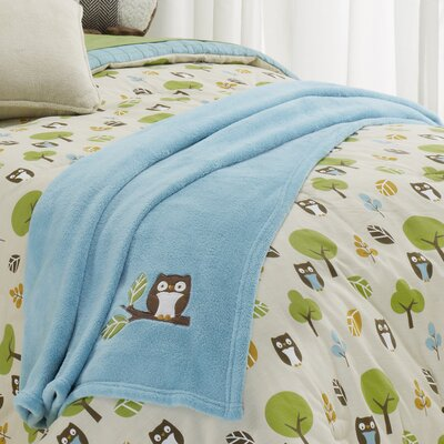 Owl in the Forest Microplush Throw