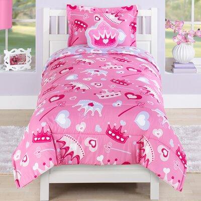Princess Crown Comforter Set Size: Full