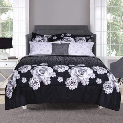 Bailey 7 Piece Bed in a Bag Set Size: Queen