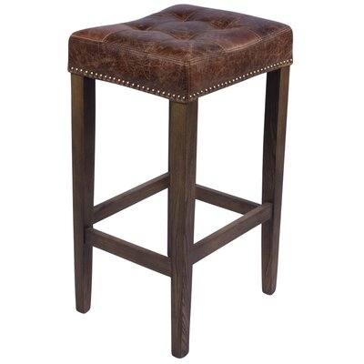 Nashville 30 Bar Stool Upholstery: Brown
