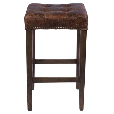 Bukovice Modern 30 Bar Stool Upholstery: Vintage Brown