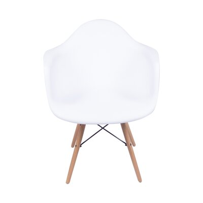Armchair Upholstery Color: White