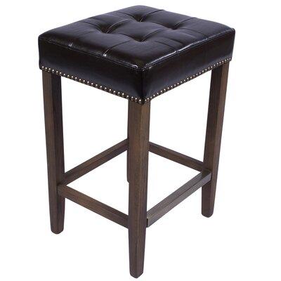 Nashville 30 inch Bar Stool Upholstery: Black