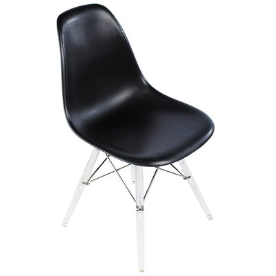 Side Chair Upholstery Color: Black