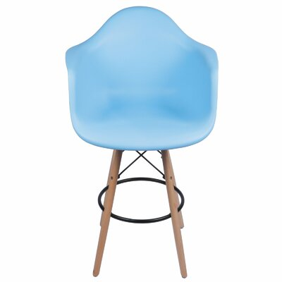 26 inch Bar Stool Upholstery: Blue