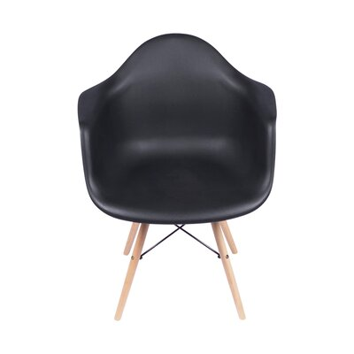 Arm Chair Upholstery Color: Black