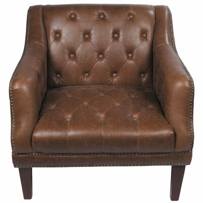 Tufted Leather Loung Chair Product Photo