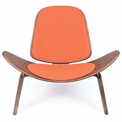 Architect Side Chair Upholstery Color: Orange