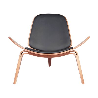 Architect Side Chair Upholstery Color: Black
