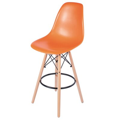 30.5 Bar Stool Upholstery: Orange